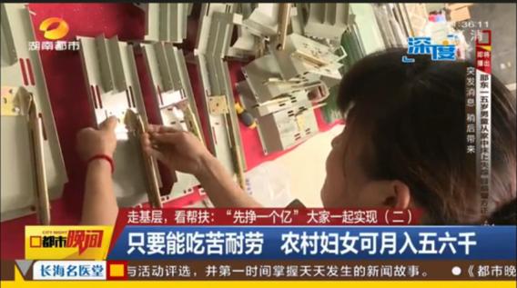 金炬實業股份有限公司湖南都市新聞頻道采訪走基層看幫扶